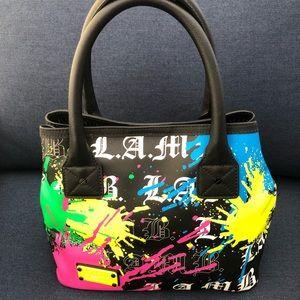 L.A.M.B. by Gwen Stefani Rare Splatter Paint Purse